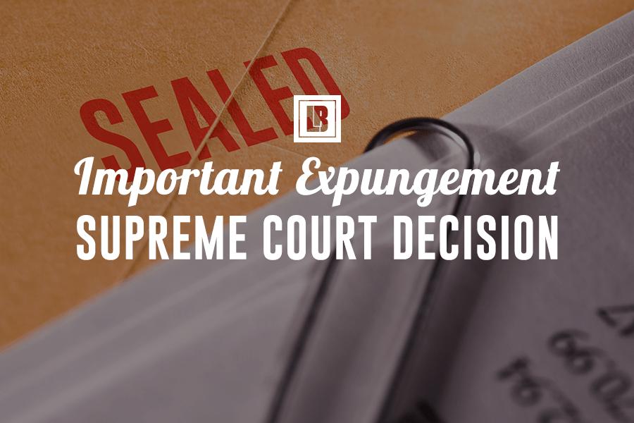 EXPUNGEMENT DECISION
