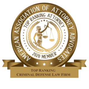 2020 Top Ranking Criminal Defense Law Firm - American Association of Attorneys